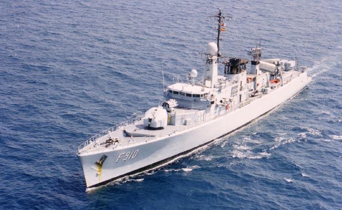 Belgian Navy Ship F910 WIELINGEN - Operation Southern Breeze Ship